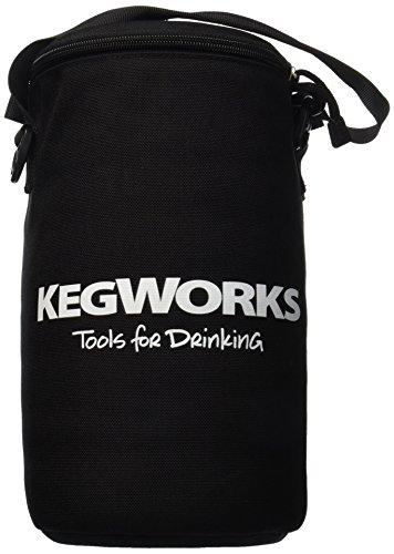 KegWorks isoliert Bier Growler Tasche, Schwarz