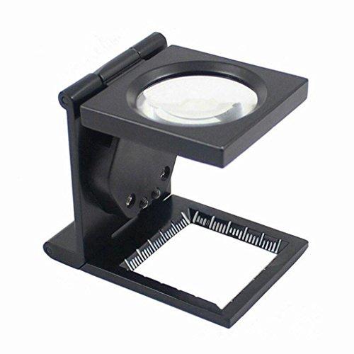 Faltbare Lupe mit 2 LED-Leuchten, All Metal 30X Schmuck Lupe Für Kleine Drucke Münzen und...