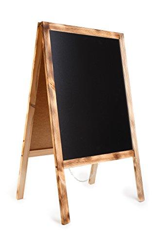 DWA Planche en Bois de Trottoir Ardoise Tableau Valeur - 100 cm x 60 cm Top Nouveau Vendeur! Code FL2 Burn