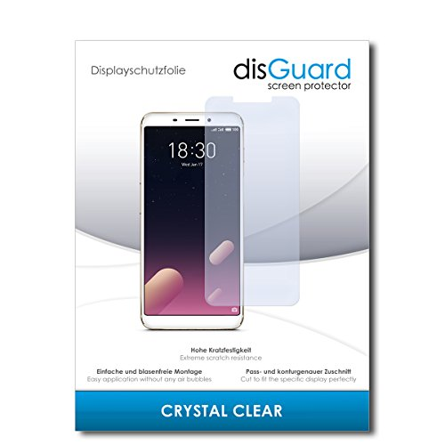 disGuard® Displayschutzfolie [Crystal Clear] kompatibel mit Meizu M6s [2 Stück] Kristallklar, Transparent, Unsichtbar, Extrem Kratzfest, Anti-Fingerabdruck - Panzerglas Folie, Schutzfolie
