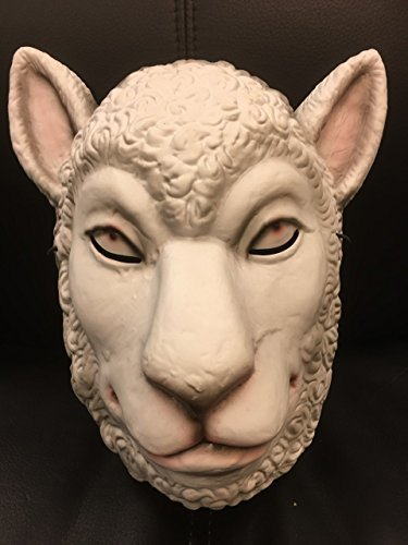 (Lamm einfarbig Stil Maske - You're Next - Horror FILM - Hart Plastik Maske - universell Größe mit Gummiband)