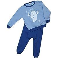Mondo Blu - Pigiama 08-706 per neonato, 100% cotone interlock caldo cotone, manica lunga