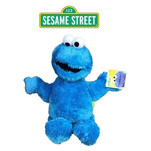 SESAMESTREET Sesame Street - Barrio Sesamo Peluche Monstruo de Las Galletas - Triqui (Azul) 28cm Sentado y 38cm de pie - Calidad Super Soft