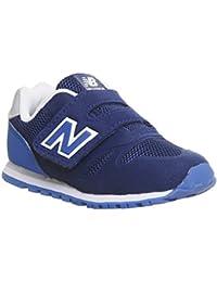 NEW BALANCE - Zapatilla deportiva 373 preschool azul, de tejido sintético y microfibra, con cierre de velcro, logo lateral trasero, Niño, Niños-32,5