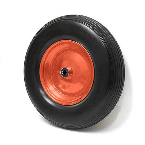 Preisvergleich Produktbild Forever Speed PU Rad Sackkarre Rad 360mm 3.50-8 Pannensicher mit Achse Stahlfelge Schiebkarre PU Stahlfelg