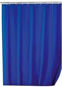 Wenko 19149100 Rideau de Douche en Polyester Bleu Textile Dimensions 25 x 3,5 x 38 cm
