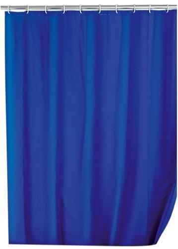 Wenko 19107100 Duschvorhang Uni Night Blue - wasserdicht, pflegeleicht, Kunststoff - PEVA, Dunkelblau