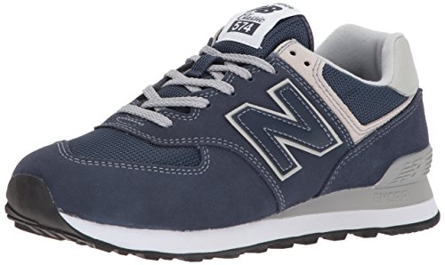 New Balance Damen Sneaker,WL574EN, Blau (Navy), 38 EU Lace Up Suede Sneakers