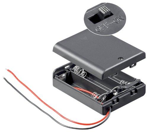 Unbekannt 10 Stück Batteriehalter, 3xmignon 'AA', geschlossenes Gehäuse Batterie Halter