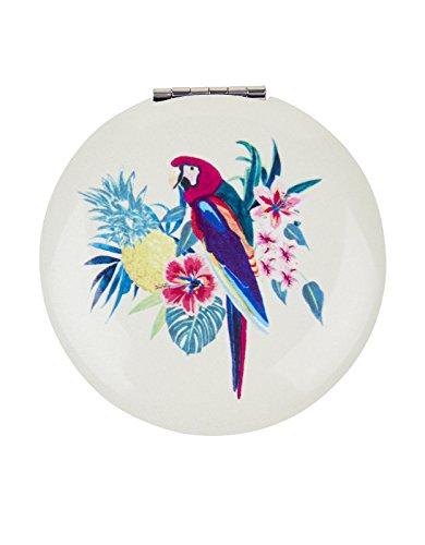 miroir-compact-motif-perroquet-taille-unique