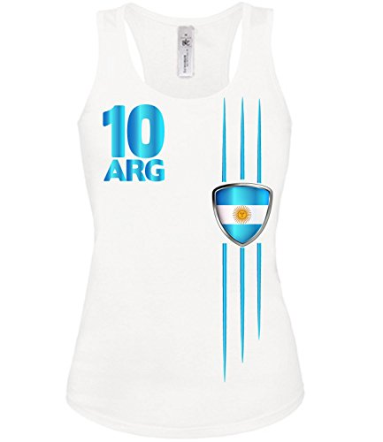 love-all-my-shirts ARGENTINIEN FANSHIRT STREIFEN 3305 Damen Tank Top (TT-F) Gr. S