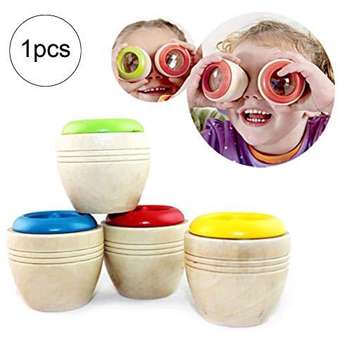 Xiton 1pc magische Bee Augen-Effekts Kaleidoskop aus Holz Kinder Spielzeug Prism Beachten Sie die...