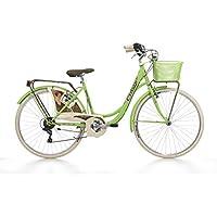 CINZIA Belle Epoque Bicicleta de Paseo, Adultos Unisex, Verde, M