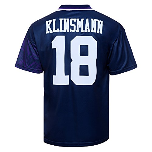 Official-Retro-Tottenham-Hotspur-1994-Away-No18-Klinsmann-Shirt-100-POLYESTER