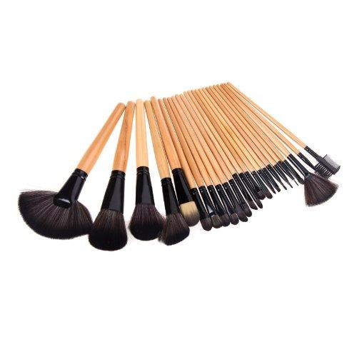 Anself - Kit de pinceaux de maquillage professionnels (24 pièces), avec étui en cuir