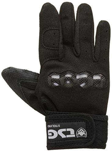 TSG Handschuhe Stelvio Downhill SK8, Black, L, 117131 (Longboard Skateboard Slide Handschuhe)