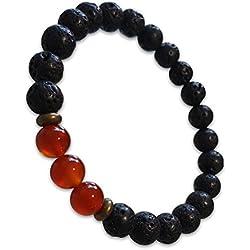 Young & Forever Divine Spiritual Unisex Men, Women Lava Beads Carnelian Beads Bracelet Healing Energy Stone Reiki Bracelet Gemstone Bracelet