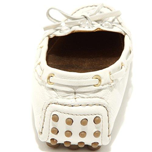 86589 mocassino CAR SHOE CALF BIJOUX scarpa donna loafer shoes women Bianco