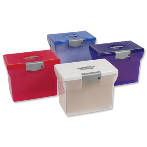 5 X Pierre Henry Freestyle File Box Plastic for Suspension Files A4 W370xD240xH300mm Light Blue Ref 288328