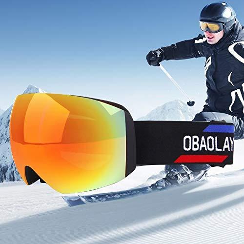 Yiph-Sunglass Sonnenbrillen Mode H011 Unisex Dual Layer-Weitsicht Anti-Fog Windschutz UV-Schutz Sphärische Brille mit verstellbarem Gurt (Artikelnummer : Og5219c)