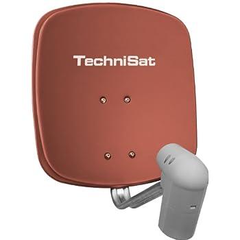 TechniSat Satman 45 SAT-Offset-Spiegel mit Wandhalterung und UNYSAT-Universal-V/H LNBrot