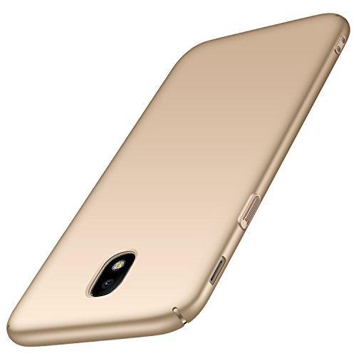 anccer Coque Samsung Galaxy J3 2017/J330F/J3 Pro 2017 [Serie Mat] Resilient Conception Ultra Mince et Absorption des Chocs Coque pour Galaxy J3 2017/J330F/J3 Pro 2017 (Or Lisse)