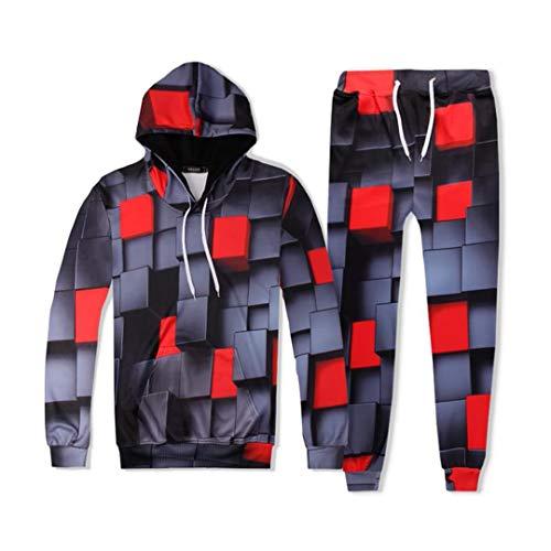 Würfel Rubik's Cube Men Sets 3D Trainingsanzüge Jogginghosen Hooded Sweatshirts Pullover, Jogger Pants S ()