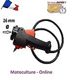 Motoculture-Online Poignée d'accélérateur avec câble et Faisceau électrique pour débroussailleuse à Dos