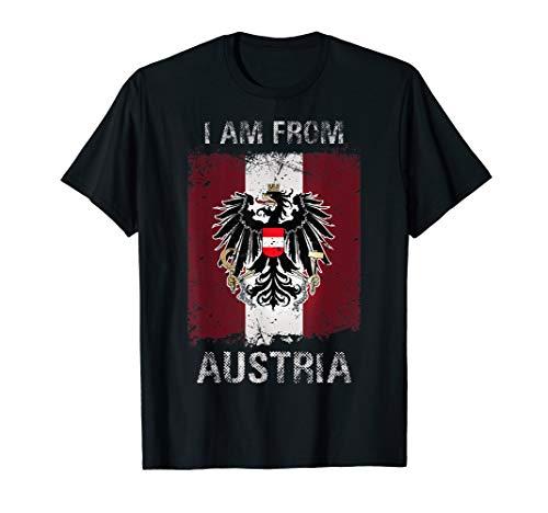 Österreich T-Shirt mit Fahne und Adler I am from Austria