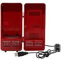Gosear Coca USB mini nevera congelador del refrigerador para bebidas Coca Cola blanco rojo