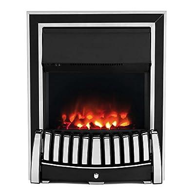 Beldray EH1909STK Almeria Premium Inset/Free Standing Electric Fire, 2000 W, Brass