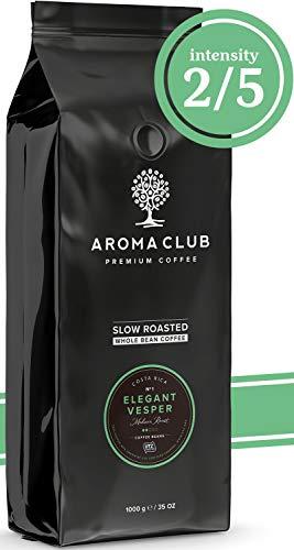 Aroma Club Café en Grano 1 kg - Medium Roast Elegant Vesper – Café 100% Arábica Costa Rica Tueste Lento – Certificación UTZ y Carbono Neutro