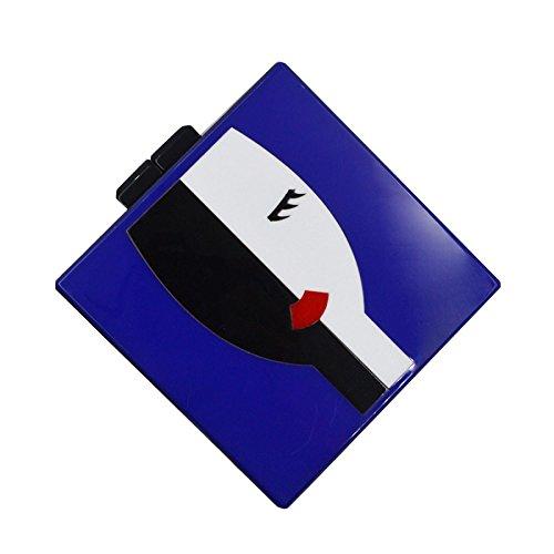WenL Europäische und Amerikanische Art-Elegante Abend-Bankett-Paket,Blue (Cocktail Leder Quadrat)