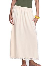 Splash Women's Petticoat, Long Skirt Slip, Free Size(SPL135, Beige)