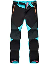 Runyue Damen Outdoor Softshellhose Wasserdicht Atmungsaktive Warm Hose  Trekkinghose Freizeithose 1ffd474352
