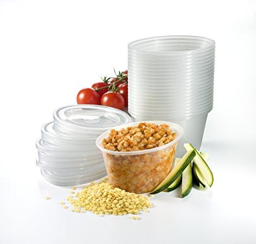 Mummy Cooks - 20 Stück, 180ml, ohne BPA, Mehrwegtransportbehälter für Babynahrung, Tiefkühl fit