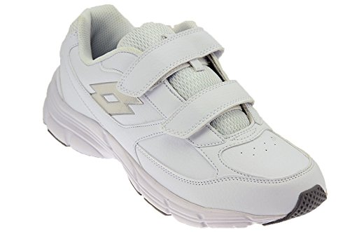 Lotto Antares Ix Lth S, Chaussures de Running Entrainement Homme Blanc / argenté (blanc / argenté métallique)