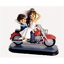 Figura novios en moto