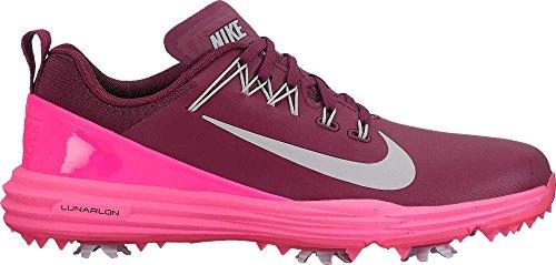 new styles a85f8 d195f Nike Lunar Command 2 2017 Zapatos de Golf para Mujer, BordeauxMetallic  Silver