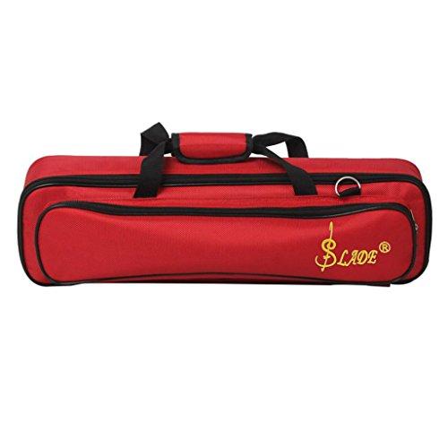 Querflötenkoff Schutztasche Tragetasche Koffer für Querflöten - Rot