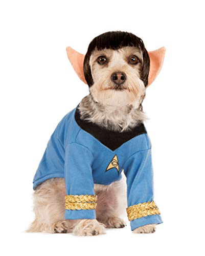 Horror-Shop Star Trek Spock Hundekostüm mit Perücke für Tierische Fans M (Ohren Tierische Kostüm)