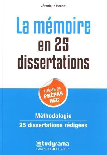 La mémoire en 25 dissertations : Sujet des concours EC