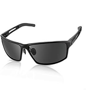 Gafas de Sol Deporte hombre Polarizadas, anti rayos 100% UVA & UVB Marco Aleación de Aluminio, Para Hombre Perfectas...