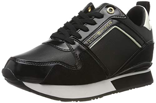 Tommy Hilfiger Leather Wedge Sneaker