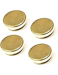 4 Gold Button Covers USE AS CUFFLINKS FOR SHIRTS WITH BUTTONS