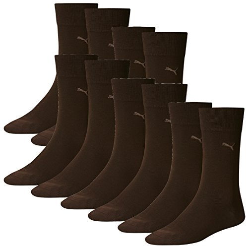 PUMA Herren Classic Casual Business Socken 10er Pack dark brown 138 - 43/46