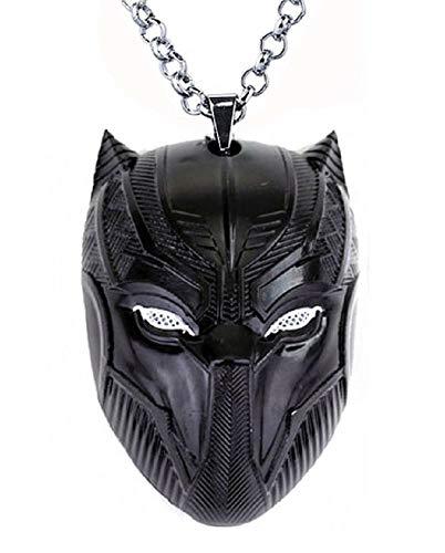 Pantera Schwarz Anhänger Superhelden Medaillon Black Panter Hero Film Cosplay Zubehör Verkleidung Halloween Karneval Jungen