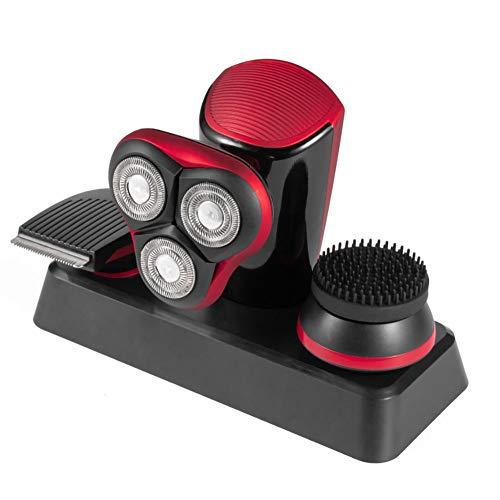 Tagliatore di capelli, rasoio umido e secco con tre lame, taglio di capelli, Risanamento strumento, volto spazzola & insieme della macchina da barba USB auto-rasatu