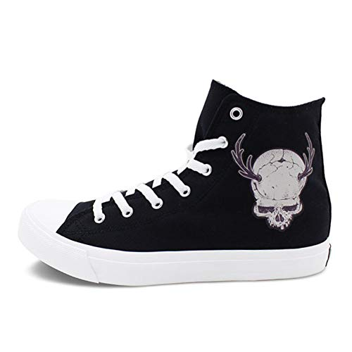 Exing Damenschuhe Leinwand Spring/Fall Comfort Sneakers Flache Ferse Runde Zehen Espadrilles Lace-Up Lässige Schuhe Schwarz,A,39 -