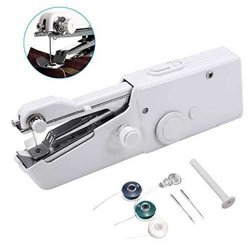 ARTISTORE Mini máquina de Coser, Herramienta de Costura rápida portátil de la máquina de Coser de la Mano para la Tela de la Ropa